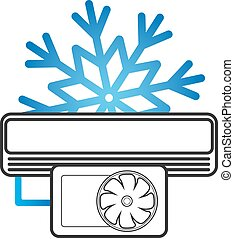Air conditioning vector illustration - Snowflake symbol for...