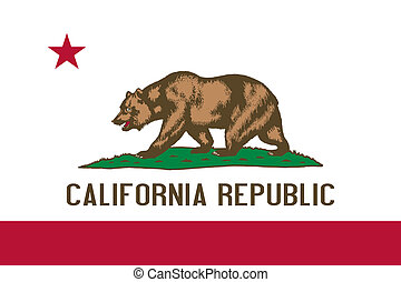 California State flag - California state flag of America,...