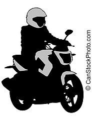 Biker whit motor four