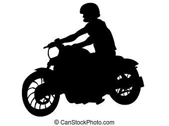 Biker whit motor one