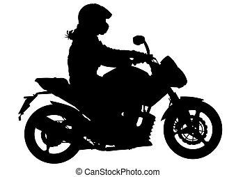 Biker whit motor three
