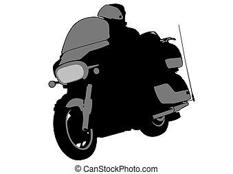 Biker whit motor two