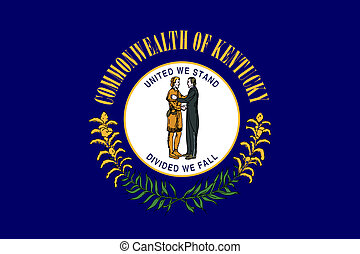 Kentucky state flag of America, isolated on white...