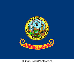 Idaho state flag of America, isolated on white background.