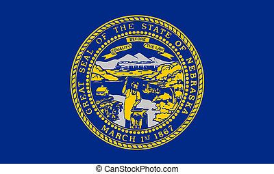 Nebraska state flag - Illustration of Nebraska state flag,...