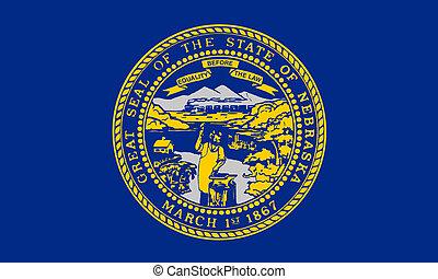 Nebraska state flag - Illustration of Nebraska state flag,...
