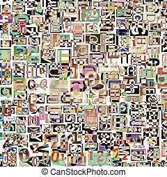 Digital collage - Designed background. Digital collage made...