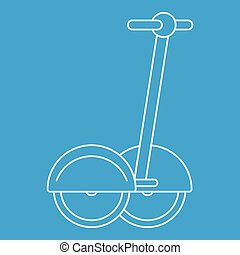 Two wheeled electric vehicle icon, outline style