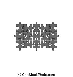 Jigsaw puzzle blank template