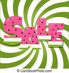 Sale Poster With Watermelon Text