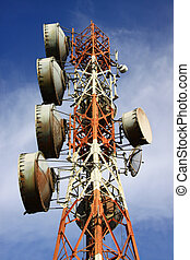unified communications tower - communications tower against...