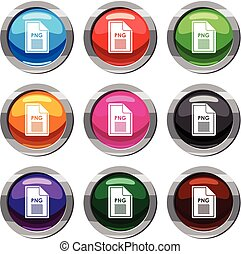 File PNG set 9 collection - File PNG set icon isolated on...