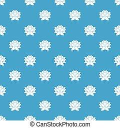 Lotus flower pattern seamless blue