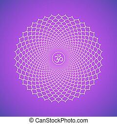vector chakra Sahasrara symbol illustration - Vector seventh...