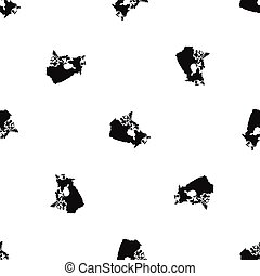 Canada map pattern seamless black