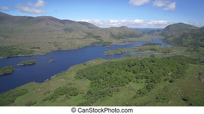 Aerial, Ladies View, County Kerry, Ireland - Native...