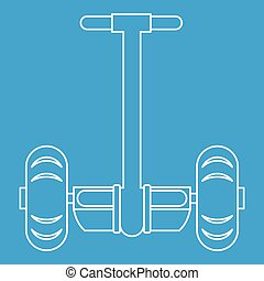 Segway transport icon, outline style - Segway transport icon...