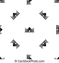 Taj mahal pattern seamless black - Taj mahal pattern repeat...