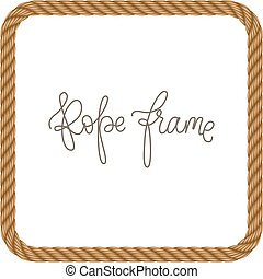 Rope vector frame