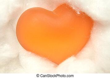Coração, algodão