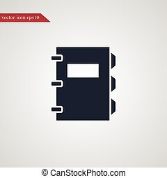 Note book icon simple illustration - Note book icon simple...