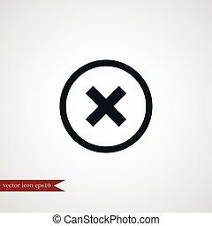 Cross icon simple illustration - Cross mark icon simple...