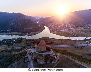 monastère, georgia., mtskheta, jvary