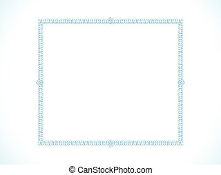 abstract artistic blue border.eps