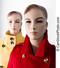 Two female mannequin in shop