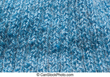 Blue texture - Texture background blue manual knitted wool...