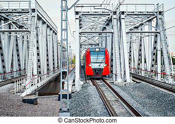 Highspeed train moves toward. - Highspeed train moves toward...