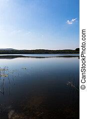 acqua, lago montagna, calma