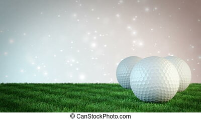 golf balls on grass field with bokeh background - seamless...