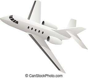 Business Jet Airplane Illustration - Sharp looking small...