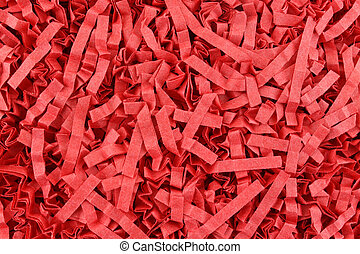 Red packing material - A close view of red packing material....