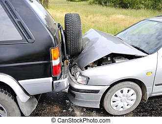 car accident - Car accident on the highway