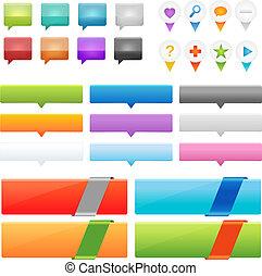 Web Design Frame - Collection Of Website And GPS Navigation...