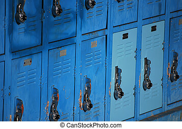 Lockers to store personal belongings at school.