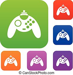 Gamepad set collection - Gamepad set icon in different...