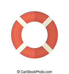 Life ring. Icon on isolated background