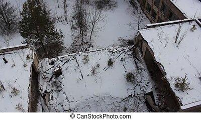 Pripyat. Ulitsa Druzhby narodov. School 2. copter. winter -...