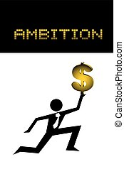 ambition illustration design - Creative design of ambition...