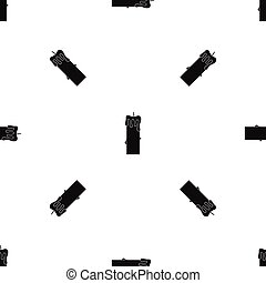 Memorial candle pattern seamless black - Memorial candle...