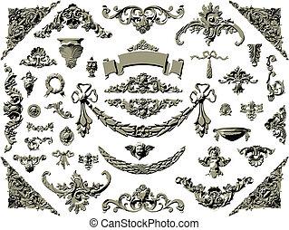 Vector set of vintage design