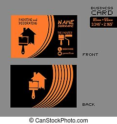 orange and black the painter card