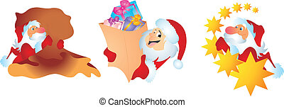Collection of Traditional Santa Claus