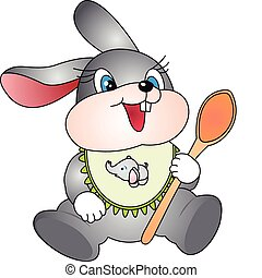 Rabbit with spoon