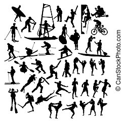 Extreme Sports Silhouettes, art vector design