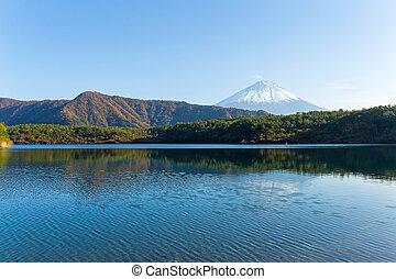 Mount Fuji in Saiko Lake