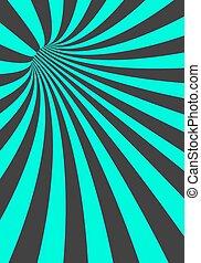 Vector Spiral Tunnel Illusion. Vortex Motion Striped Tunnel Background
